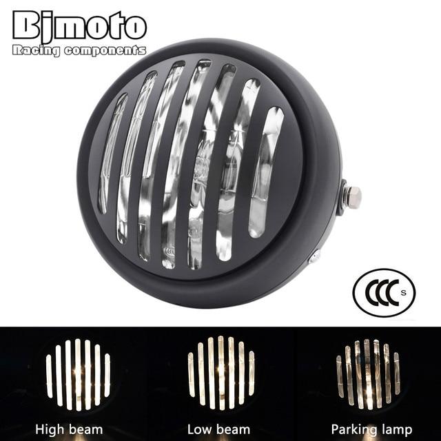 """Headl luz para harley 6.5 """"lâmpada de projeção do farol da motocicleta para honda yamaha kawasaki chopper bobber touring cafe racer"""