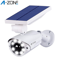 Falso câmera solar de vigilância de vídeo ao ar livre manequim câmera impermeável segurança cctv vigilância bala com luz led piscando|Câmeras de vigilância| |  -