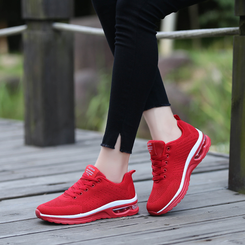 2019 Couple Running Shoes Air Cushion Casual Mesh Shoes Women Breathable Sneakers Jogging Increase Sport Shoes Men 47 Large Size