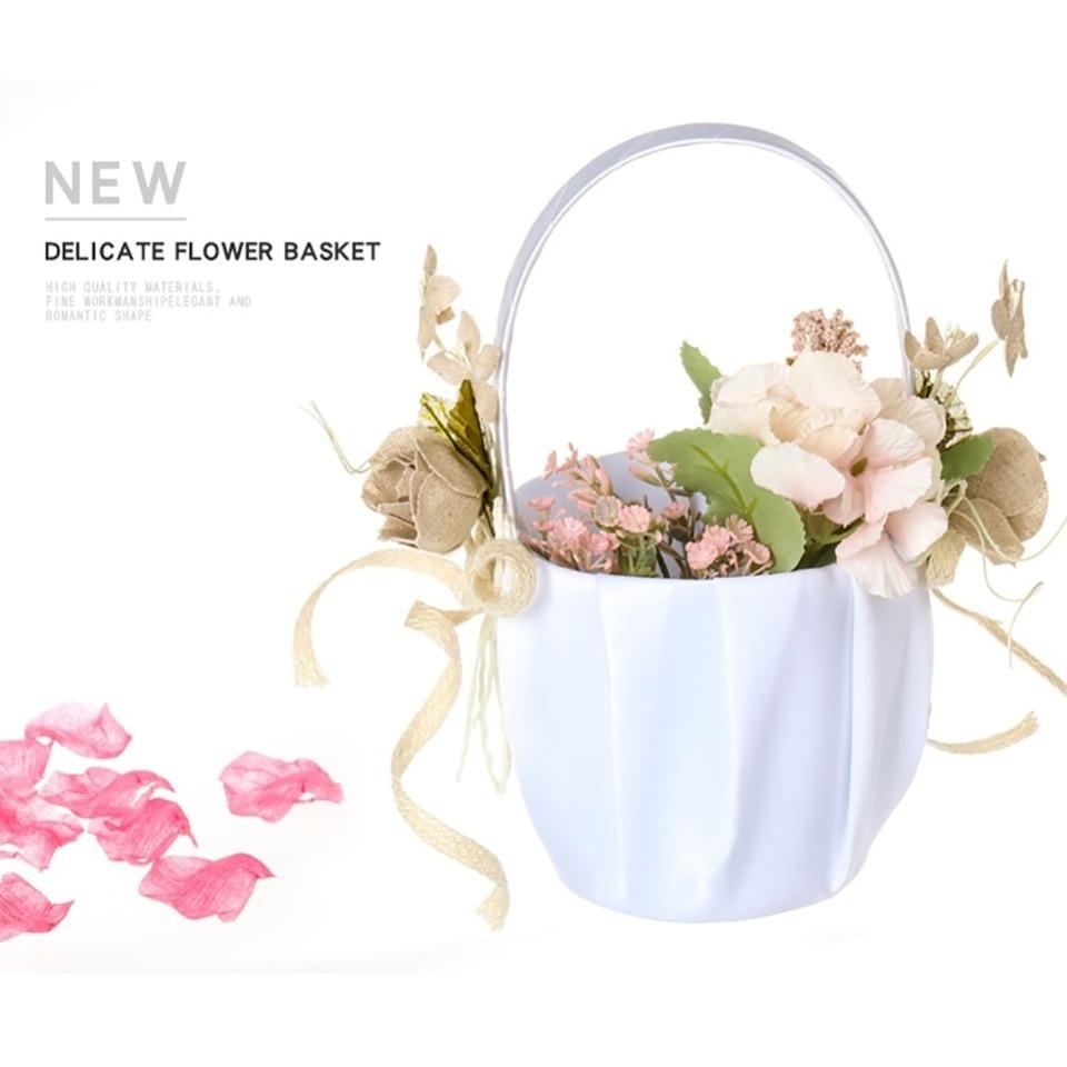 Wedding Supplies Flower Girl Basket  Simulation Petals Home Display Decor Gift