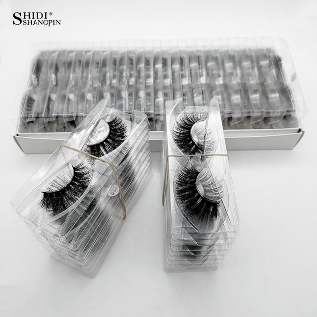 SHIDISHANGPIN Wholesale Eyelashes 3d Mink Lashes Natural Mink Eyelashes Wholesale False Eyelashes Makeup False Lashes In Bulk 1