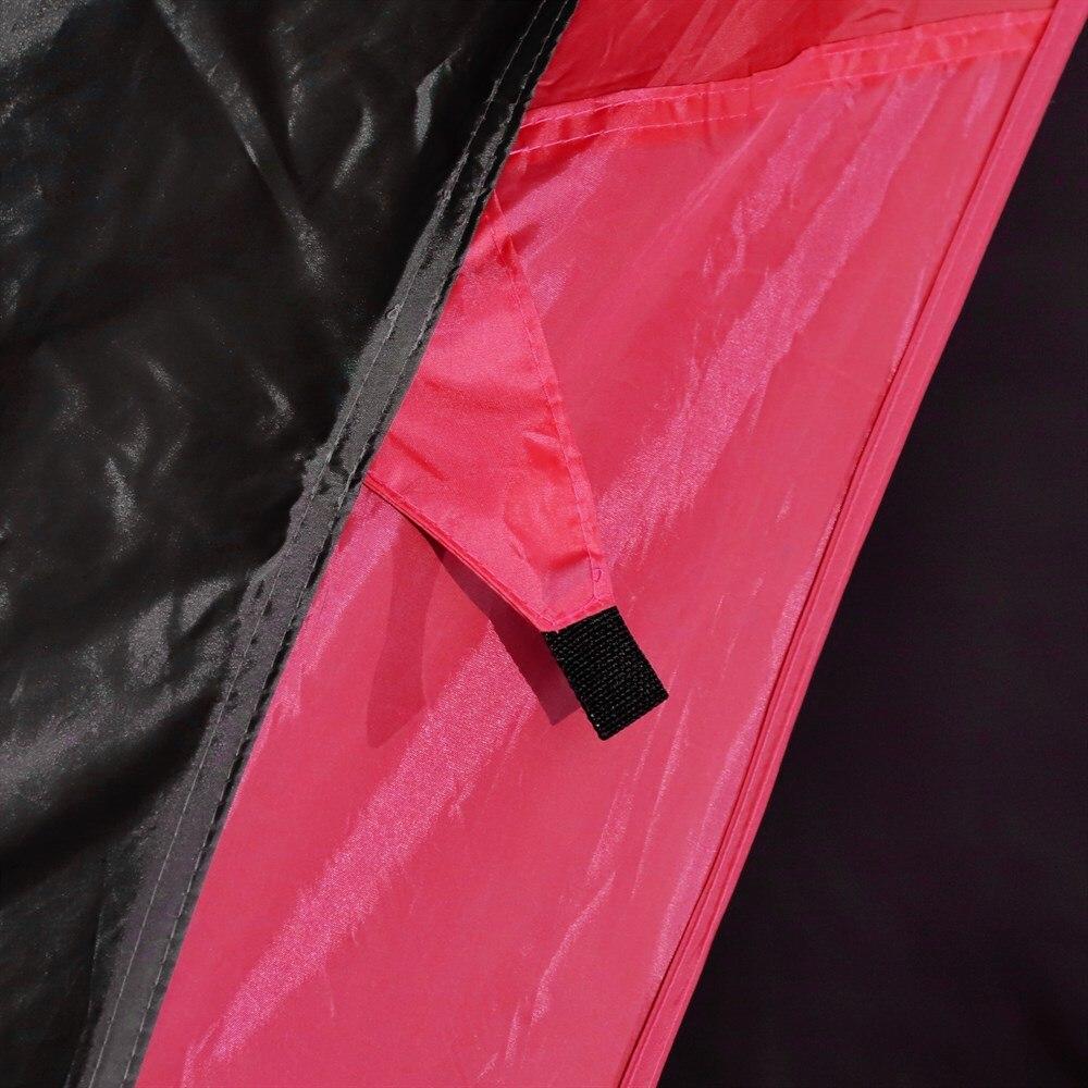 Outsunny tente imperméable UV pour 6 personnes plage Camping polyester 330x330x255 cm noir et - 4