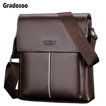 Gradosoo Man Leather Bag Brand Shoulder Crossbody Bags PU Leather Male Bag iPad Business Messenger Bags Briefcase For Men HMB682