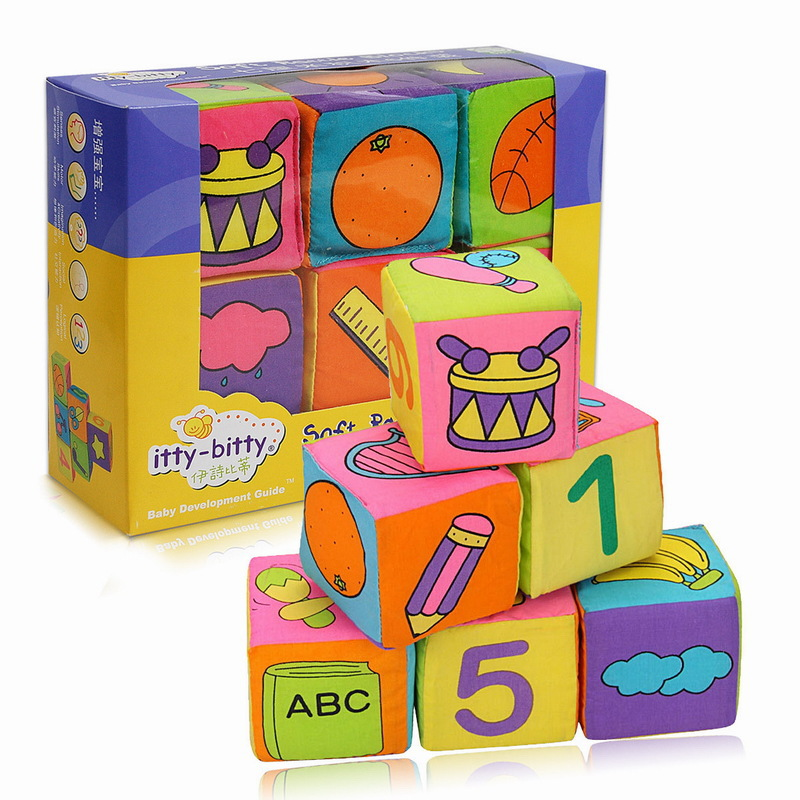 6pcs Soft Cloth Baby Blocks Early Educational Infant Toy Multifunctional Newborn Intellectual development Toys for 0-3 Years