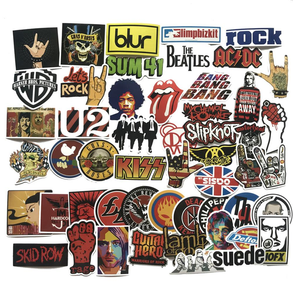 Suitcase Stickers  Accessories For Bags Band Rock And Roll Graffiti Car Stickers Waterproof Bicycle Computer Refrigerator