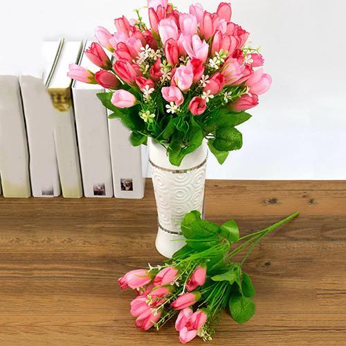 Miniature Dollhouse FAIRY GARDEN ~ Mixed Tulips Flowers Centerpiece Pot
