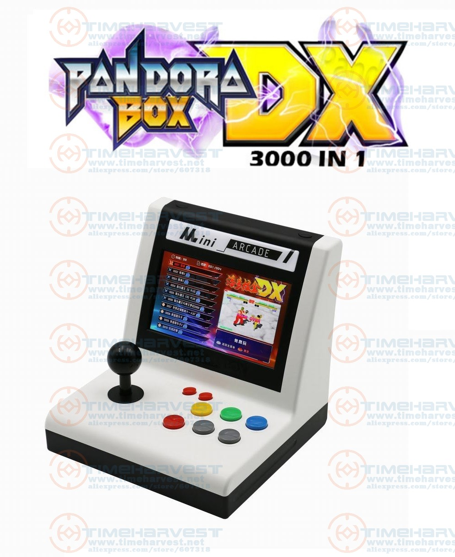 Mini Pandora Box DX Aracde Table Top 7 Inches LCD Screen Desktop Video Game Console Multi Games 3000 In 1 Arcade Game Machine