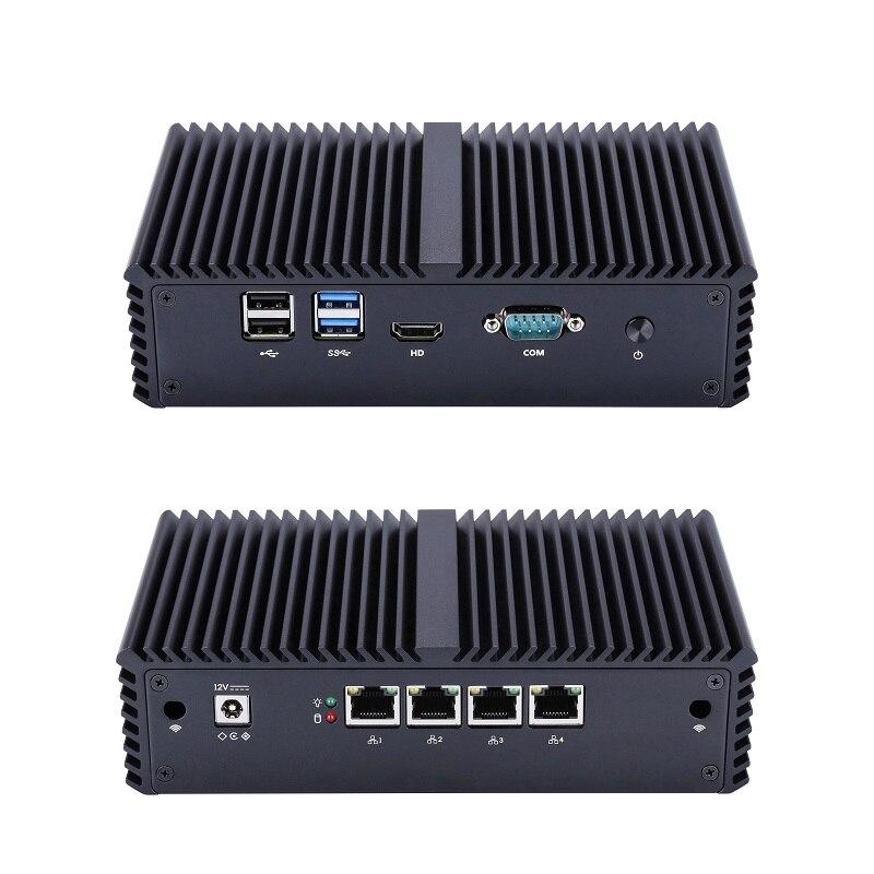 Мини-компьютер Qotom Core I3 I5 I7 AES NI без вентилятора PFsense брандмауэр мини-маршрутизатор Q300G4