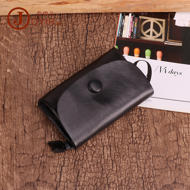 Qiao Yi Er Leather Wallet Purse Key Skeleton-skin Retro Coin Storgage Bag Cute Small Wallet