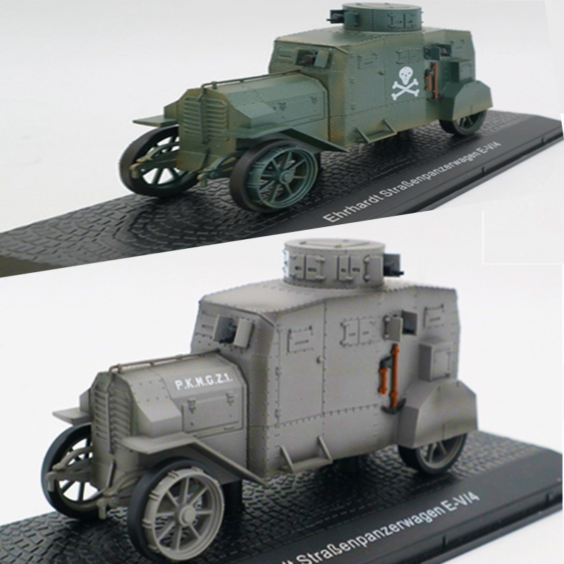 1:43WWI German Army Armored Car All alloy Car Model Ornaments Ehrhardt Atlas World War I Vehicle Collection Ornaments Kids Gifts