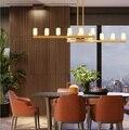 Люстра для ресторана  современная роскошная люстра для гостиной  простая современная индивидуальная хрустальная люстра для комнаты в скан...