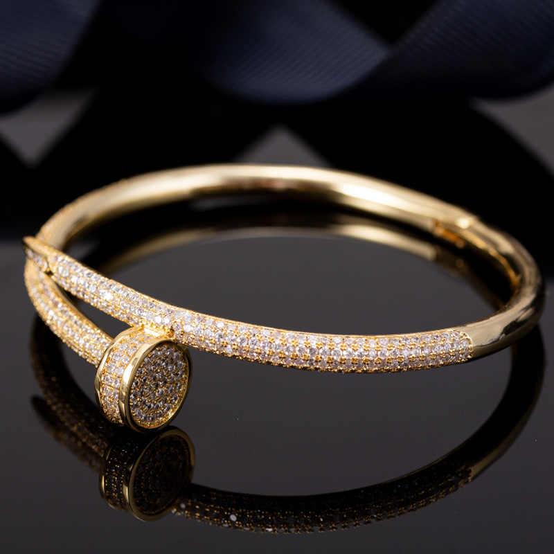 Zlxgirl Wanita Gelang & Gelang Aksesori Cubic Zirconia Gelang Pria Perhiasan Wanita Bridal Tembaga Perhiasan