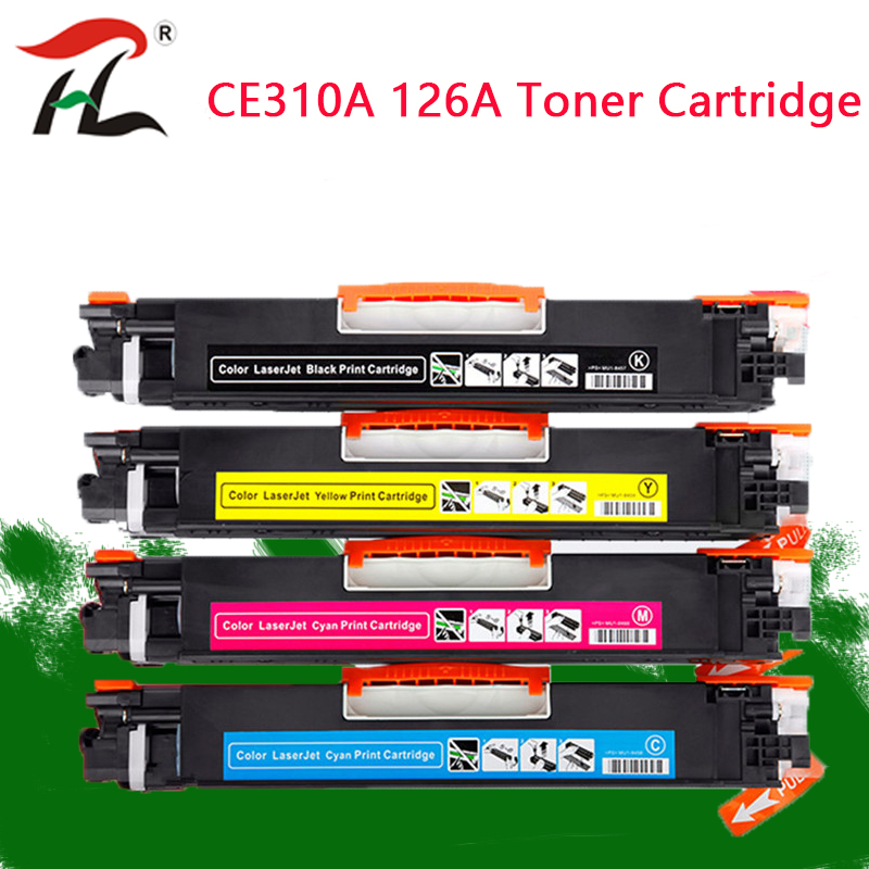 CE310A CE310A 313A 126A 126 Compatible Color Toner Cartridge For HP LaserJet Pro CP1025 M275 100 Color MFP M175a M175nw Printer-in Toner Cartridges from Computer & Office