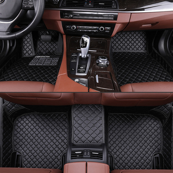 Car Floor Mats For Toyota Highlander 2015 2016 2017 2018 Auto Foot Pads Leather Auto Carpet Cover