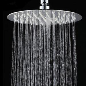 10/8/6 Inch Stainless Steel Ultra-thin Waterfall Shower Heads Rainfall Shower Head Rain Square Round