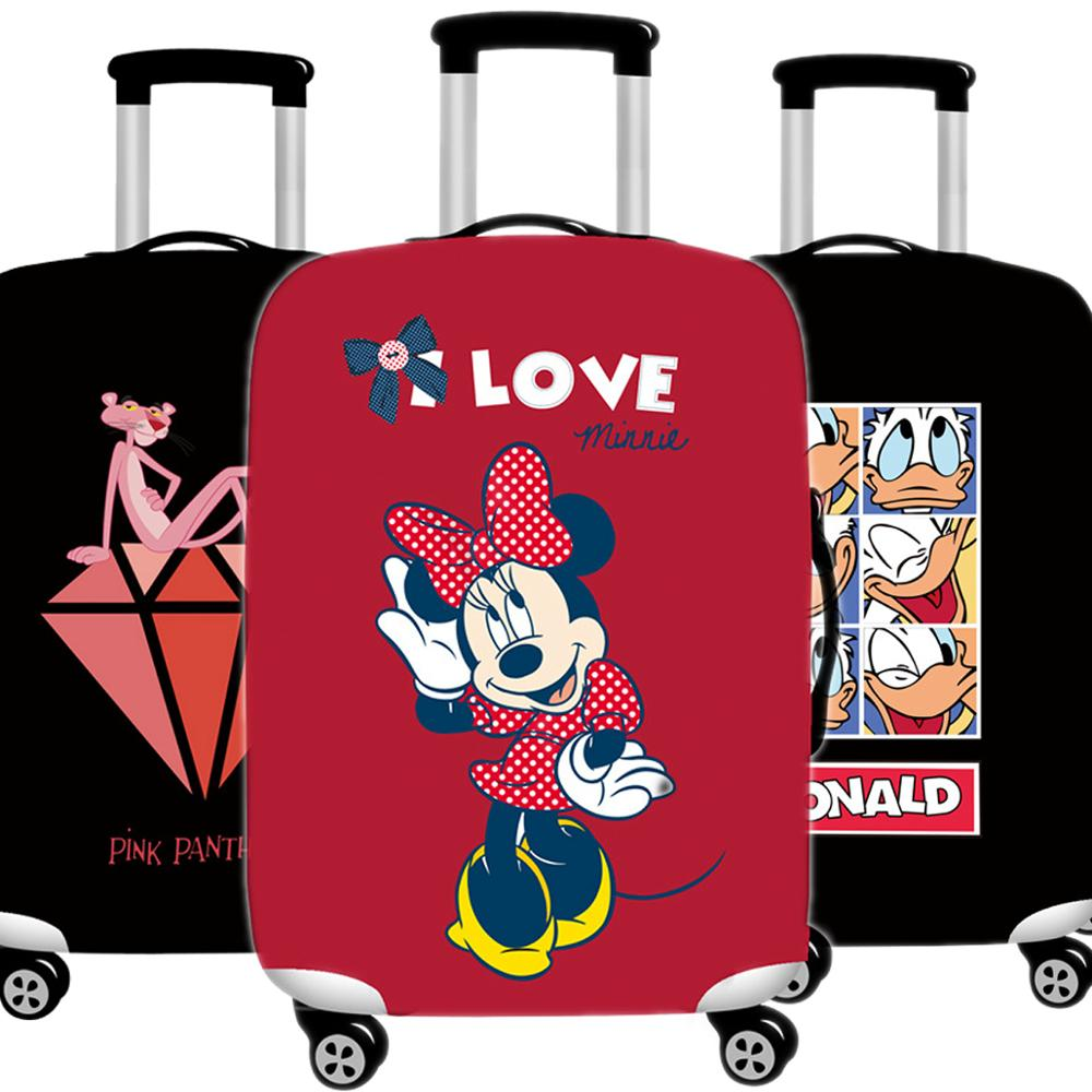 Kawaii Mickey Luggage Cover 3D  Protective Case Thicken Waterproof Elastic Minnie Suitcase Cover 18-32 Ince XL Travel Accessorie