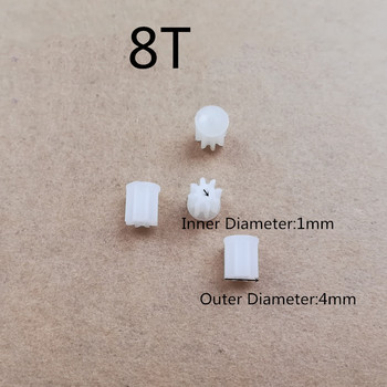 M69G X12 RC Drone Spare Parts 8T 4mm 1mm 8 teeth Small Motor Gears for Q1 M69 M69S Quadcopter