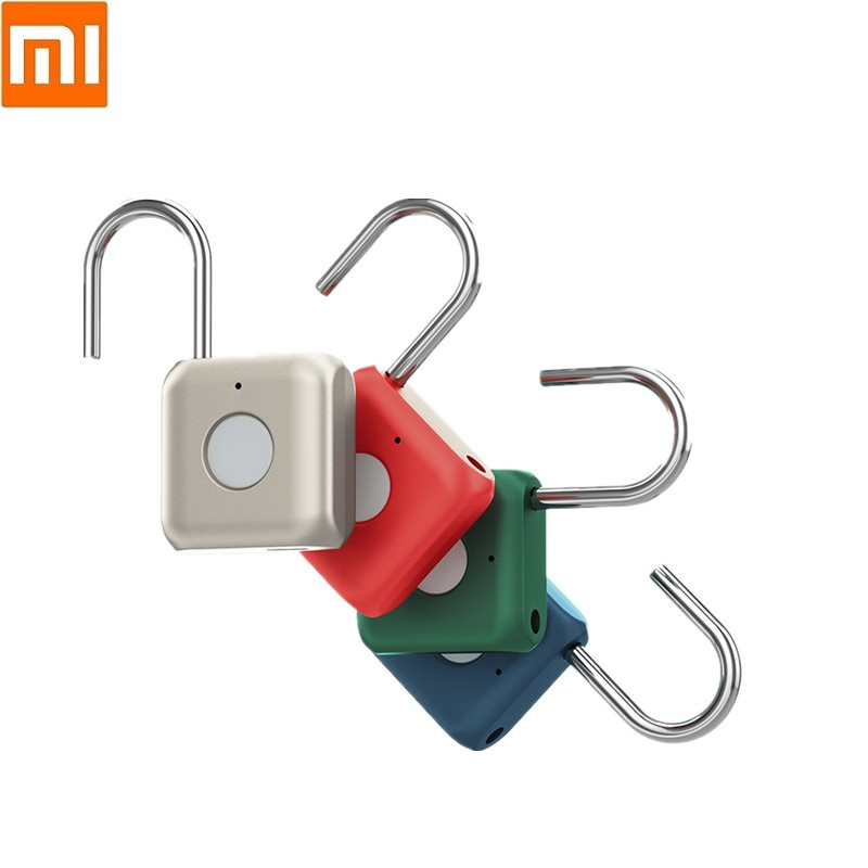 Xiaomi Kitty Smart Fingerprint Door Lock Padlock USB Charging Keyless Anti Theft Travel Lock Cabinet Luggage Drawer Safety Lock