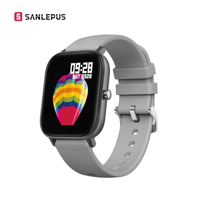 SANLEPUS Smart Watch Men Women Touch Fitness Bracelet Tracker Blood Pressure Smart Clocks Smartwatch for Apple Xiaomi Huawei
