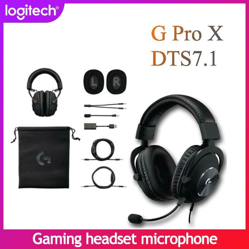 Проводная игровая гарнитура Logitech G PRO X, с шумоподавлением и объемным звуком, 7,1, подходит для настольных компьютеров