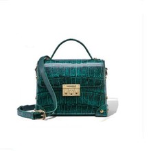 gete New crocodile leather women handbag Female bag fashion Casual square