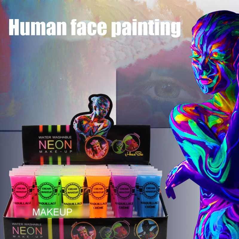 2019 nowy Halloween Cosplay makijaż krem do twarzy bezpieczne twarz bólu w ciele artysta akcesoria do gier do malowania ciała pigmentu Hot