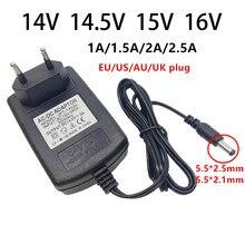 14v 14.5v 15 16 v adaptador de alimentação 1a 1.5a 2a 2.5a 2500ma universal ac/dc adaptador 14 14.5 15 16 volts interruptor adaptador