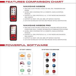 Image 3 - Autel MaxiDiag MD808Pro Diagnostic Tool, MD808 Pro Obd2 Scanner Engine Transmission SRS ABS EPB Oil Reset DPF SAS BMS (VS MK808)