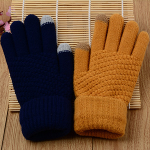 Image 4 - Touch Mobile Screen Gloves Knit Couple Gloves Comfortable and Stylish Outdoor Warm Winter Gifts