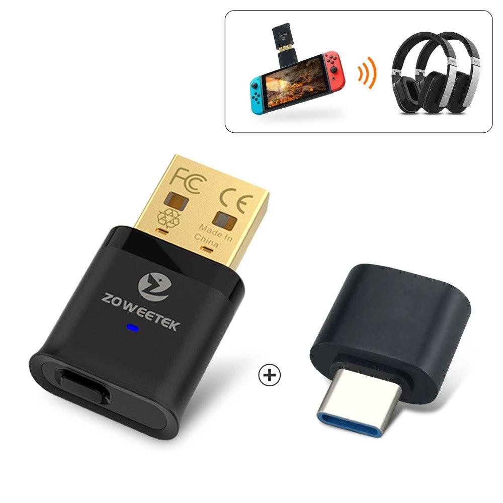 Купить zoweetek usb bluetooth адаптер 50 ключ с aptx низкой задержкой