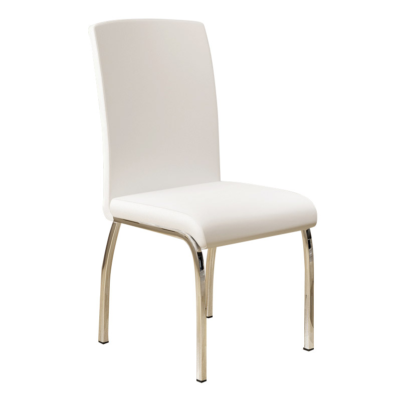 Modern Simple Adult Household Dining Chair Back Leather  Restaurant Table and  Conference Room