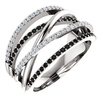 Huitan nowy Twist etniczny styl kobiety pierścienie z czarno-białym kamieniem Micro betonowa prezent niespodzianka dla kobiet Trendy biżuteria pierścionki tanie i dobre opinie CN (pochodzenie) Mosiądz Cyrkonia Etniczne Zespoły weselne GEOMETRIC Gift B2873 Pave ustawianie Moda Ślub