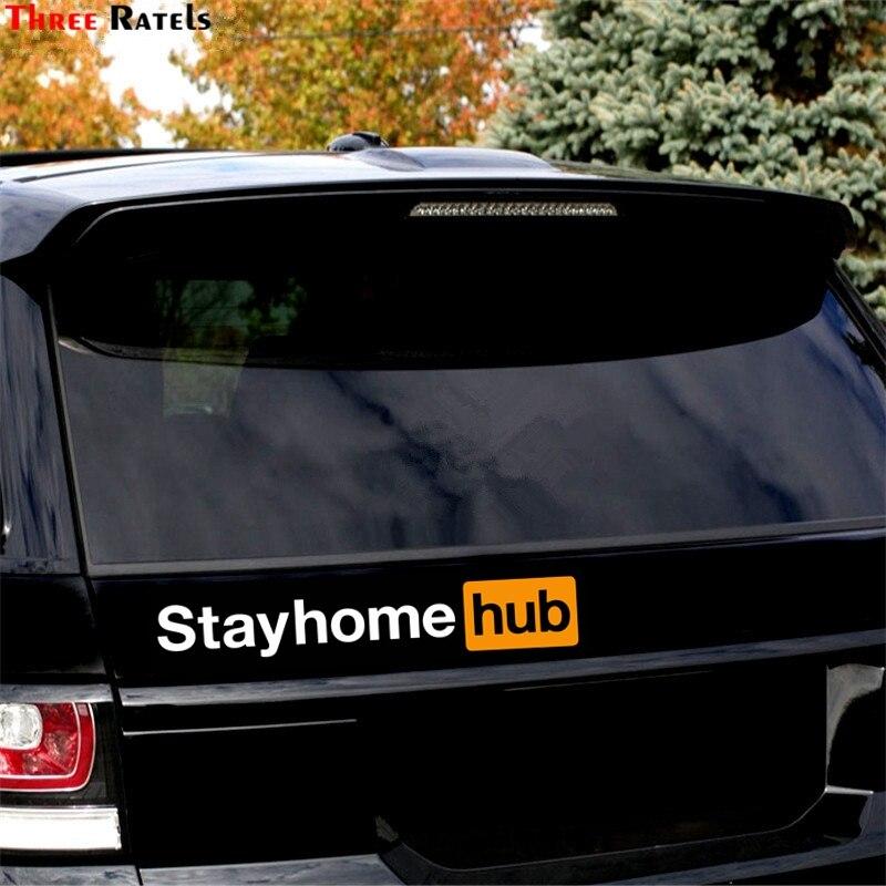 Three Ratels FTC-1104# Porn Hub Funny Car Sticker Window Adult Die Cut Vinyl Decal Pornhub Sticker Car Laptop Motorcycle Decal