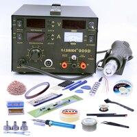 Comparar Estación de pistola de aire caliente Saike 909D soldador fuente de alimentación CC Estación de retrabajo