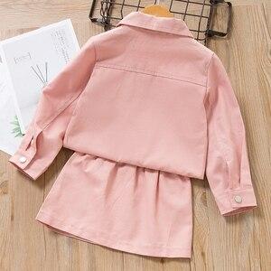 Image 5 - Beenira bebek kız giyim elbise 2020 avrupa ve amerikan tarzı çocuk kış kırmızı çiçek ceket tam kollu sonbahar elbise
