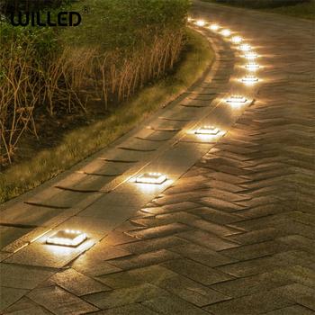 Krok schodowa lampa słoneczna cube led lampa zewnętrzna ogród wodoodporne lampki podziemne oświetlenie do montażu naściennego kroki mocne obciążenie obudowy tanie i dobre opinie Willed CN (pochodzenie) Lampy podziemne Żarówki LED 1 Year Klin SOLAR ROHS IP68 led buried light Outdoor led spotlight