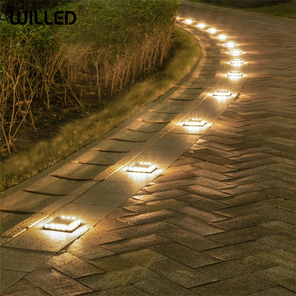 Step Stair Solar Light Cube Led Outdoor Lamp Garden Waterproof Lights Underground Wall Embedded Lighting Steps Tough Case Load