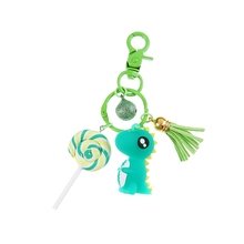 2019 Cute dinosaur Keychain key pendant key-ring  for bag women men gift jewelry Drop shipping