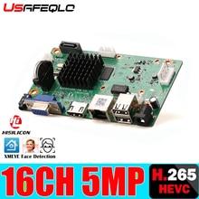 H265/H264 16CH * 5MP NVR сетевой цифровой видеорегистратор 1 SATA кабель обнаружения движения P2P CMS XMEYE безопасности