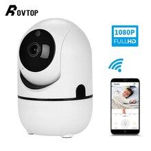 Rovtop HD 1080P 클라우드 무선 IP 카메라 인간의 홈 보안 감시 CCTV 네트워크 와이파이 카메라의 지능형 자동 추적