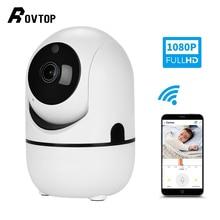 Rovtop HD 1080P облачная Беспроводная ip камера интеллектуальное автоматическое отслеживание человека, Домашняя безопасность, CCTV сетевая камера с Wifi камерой