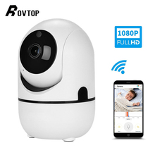 Rovtop hd 1080 720p クラウドワイヤレス ip カメラのインテリジェント自動追尾人間ホームセキュリティ監視 cctv ネットワーク無線 lan カメラ