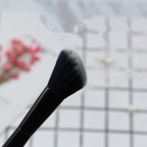 Image 5 - 1 Pcs Blush, Fard in Polvere Spazzola di Trucco Doppio Ended Pro Contouring Sculpting Spazzola Del Fondamento Professionale Make Up Strumenti