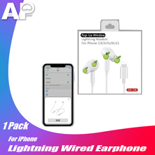 Auriculares Acespower Pro Pods para IPhone 7, 8 X XS, XR, 11 Max, Auriculares Bluetooth con cable, ventana emergente, auriculares Ios, auricular con iluminación