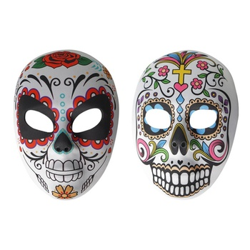 Day Of The Dead Mask Scary Night Halloween Party Cosplay Costume Props Skull Mask scary halloween adult cave demon mask the faun skull skeleton mask