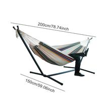 Double Hammock Hanging Chair Large Hammock without Steel Stand for Garden Courtyard Indoors /without shelf Travel Outdoor