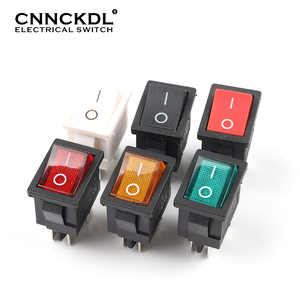5 PCS/LOT KCD1 4 Pin 21*15mm ON-OFF Boat Car Rocker Switch 6A/250V AC 10A/125V AC With Red Blue Green Yellow Light Switch(China)