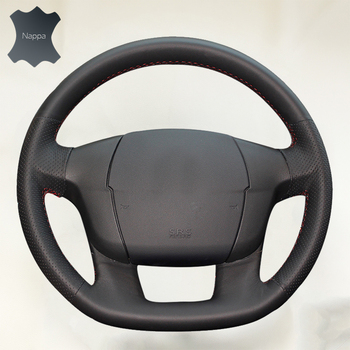 DIY Steering Wheel Cover for Citroen C4 C4L soft Leather braid on the steering wheel of Car Interior accessories