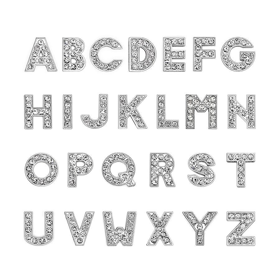10mm-铬色白钻字母穿戴