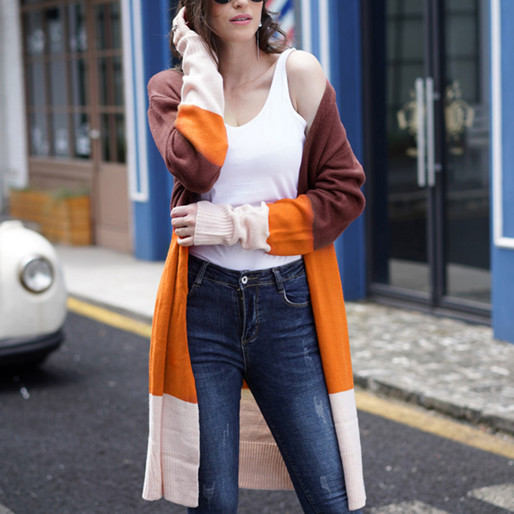 2020 Fashion Cardigans Knitted Sweaters Women Spring Thin Knit Cardigan Sweater Cotton Long Outwear Coat Female Plus Size 2XL